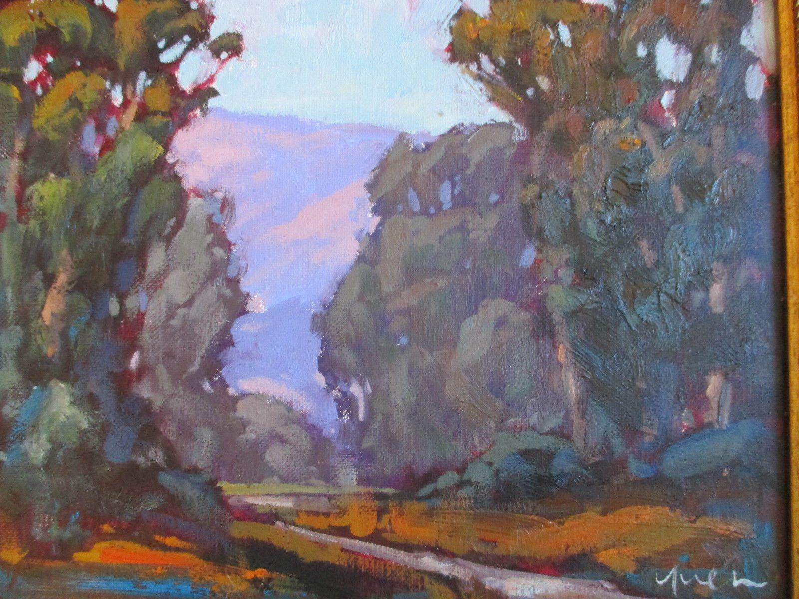 Kevin Yuen California Impressionist Eucalyptus Mountain Landscape Oil Painting Ebay Painting Oil Painting Landscape Landscape Art