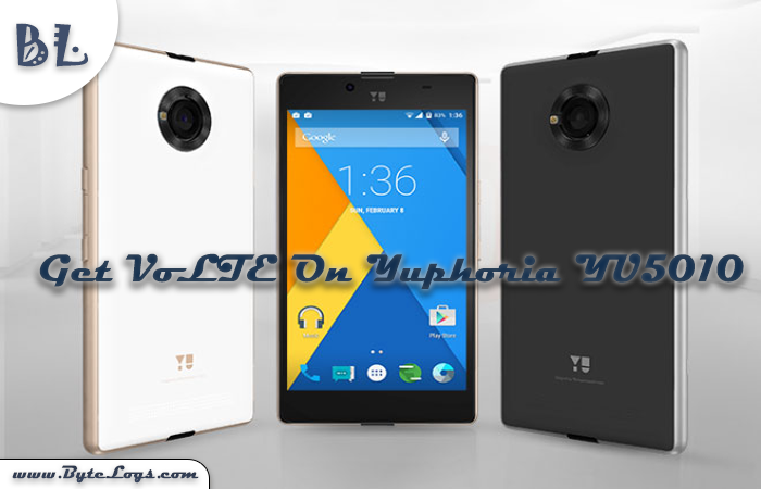 How To Get VoLTE On Yuphoria (YU5010 & YU5010A) Software