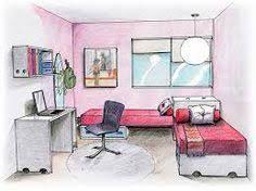 Resultado De Imagen De Habitacion En Perspectiva Conica Frontal Habitacion Alquiler De Habitaciones Decoraciones De Casa