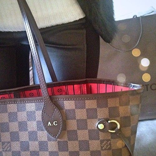 6ba4fa4a157d Hot stamped Neverfull and leather trousers