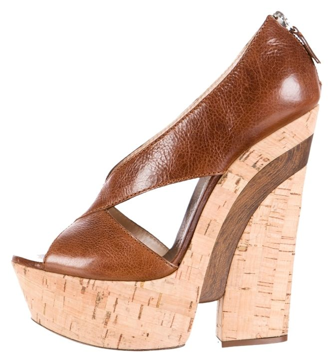 Casadei Leather Cutout Sandals Brown Wedges. Get the must-have wedges of this season! These Casadei Leather Cutout Sandals Brown Wedges are a top 10 member favorite on Tradesy. Save on yours before they're sold out!