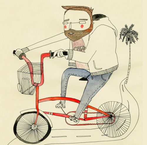 guy on a bike - Amaia Arrazola