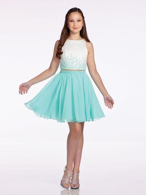 Vestido de festa Luxo juvenil daminha coral aniversário