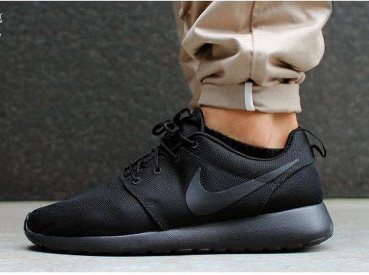Authentic Women Nike Roshe Run Id 511881 111 Blackout Shoes