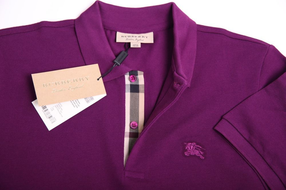 3f602e1f6 BURBERRY POLO T SHIRT BRAND NEW FOR MEN COLOR PURPLE SIZE XL GENUINE LOGO  ON #fashion #clothing #shoes #accessories #mensclothing #shirts (ebay link)