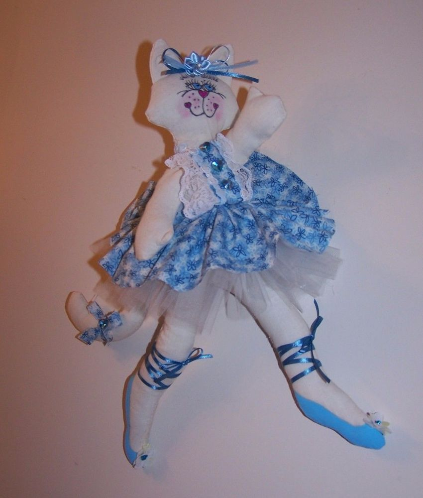 "Wall Art Ballerina Kitty Girl's Room Nursery Handmade 16.5"" Tall NWOT #Handmade"