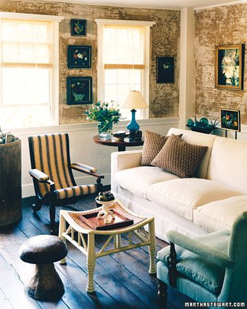 martha stewart interiors | Country cottage living room ...