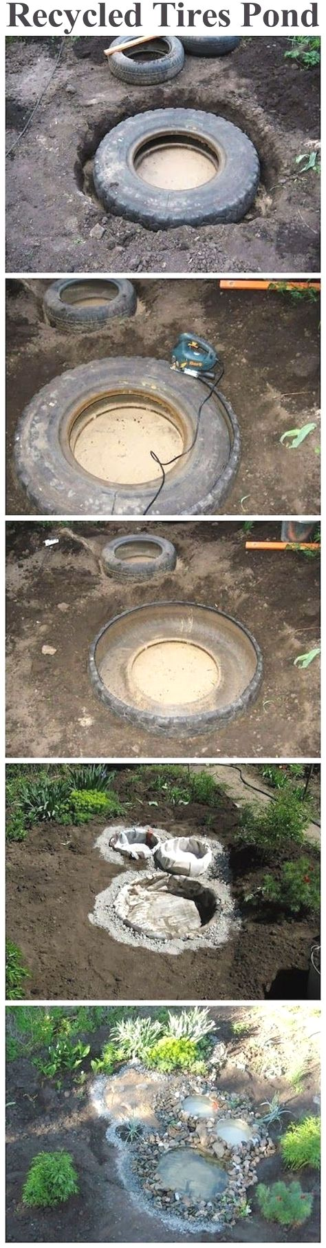 Recycled tires pond outdoors diy pond craft crafts do it yourself recycled tires pond outdoors diy pond craft crafts do it yourself diy projects how to garden solutioingenieria Gallery