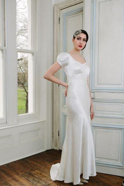 1930s vintage wedding dress VIOLETTE, c. Heavenly Vintage Brides ...