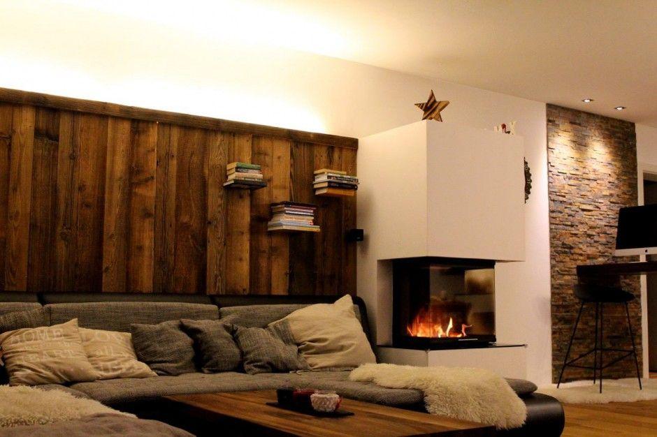 Holzwand Sofa Bs Holzdesign Wohnstil Allgemein Pinterest
