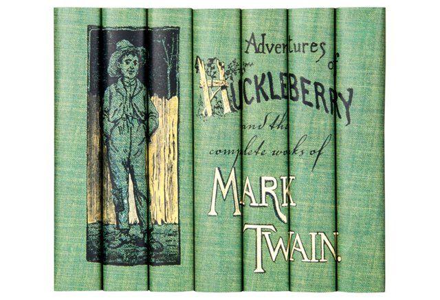S 7 Mark Twain Books Huck Finn Set Mark Twain Books Huckleberry