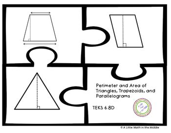 Perimeter and Area of Triangles, Trapezoids, and