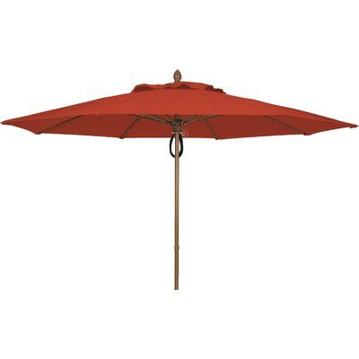 Fiberbuilt 11' Prestige Market Umbrella Frame Finish: Champagne Bronze, Fabric: Terracotta