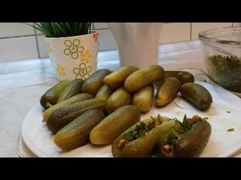 طرشي خيار محشي على طريقه الشيف عامرstuffed Cucumber Pickles Food Sausage Meat