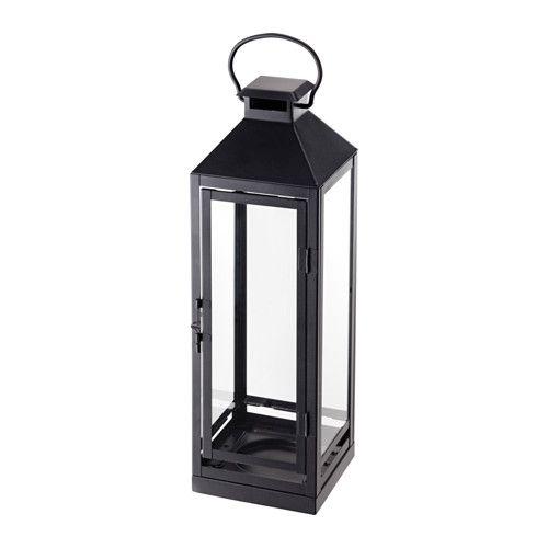 Laterne Kerze Draußen : lagrad laterne f r blockkerze innen au en schwarz ikea ~ Watch28wear.com Haus und Dekorationen