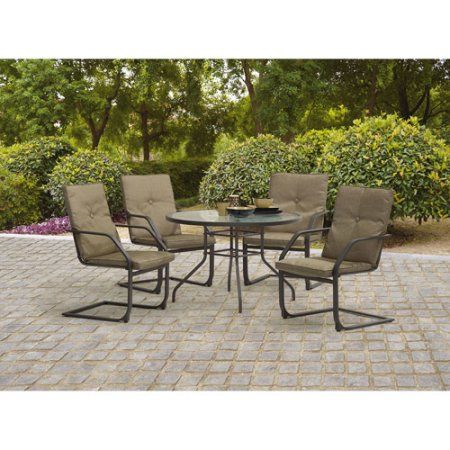 Free Shipping Buy Mainstays Spring Creek 5 Piece Patio Dining Set