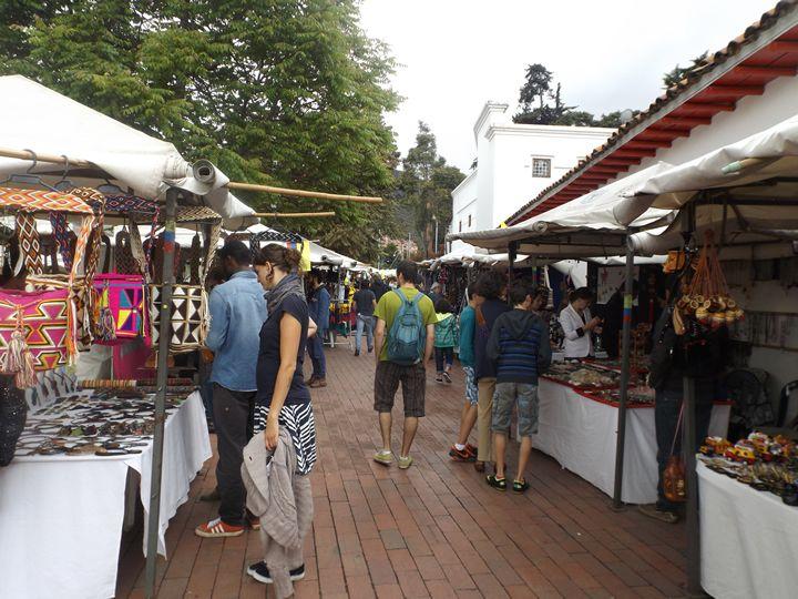 Mercado de Las Pulgas em Usaquen, Bogota, Colombia.