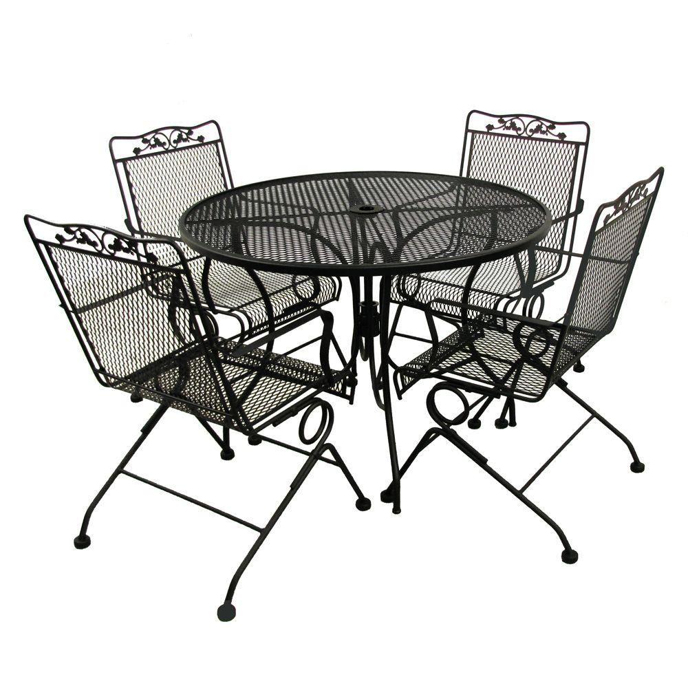 Arlington house glenbrook black patio action chairs pack metal