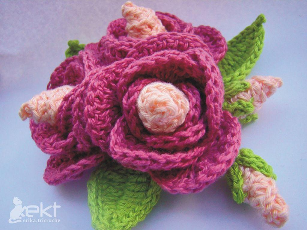 Crochet Flowers for Hats Pattern   crochet flower pattern   Crochet ...