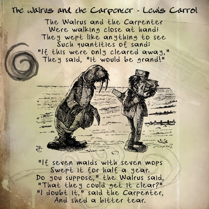 The Walrus And The Carpenter By Lewis Carroll Part 1 Lewis