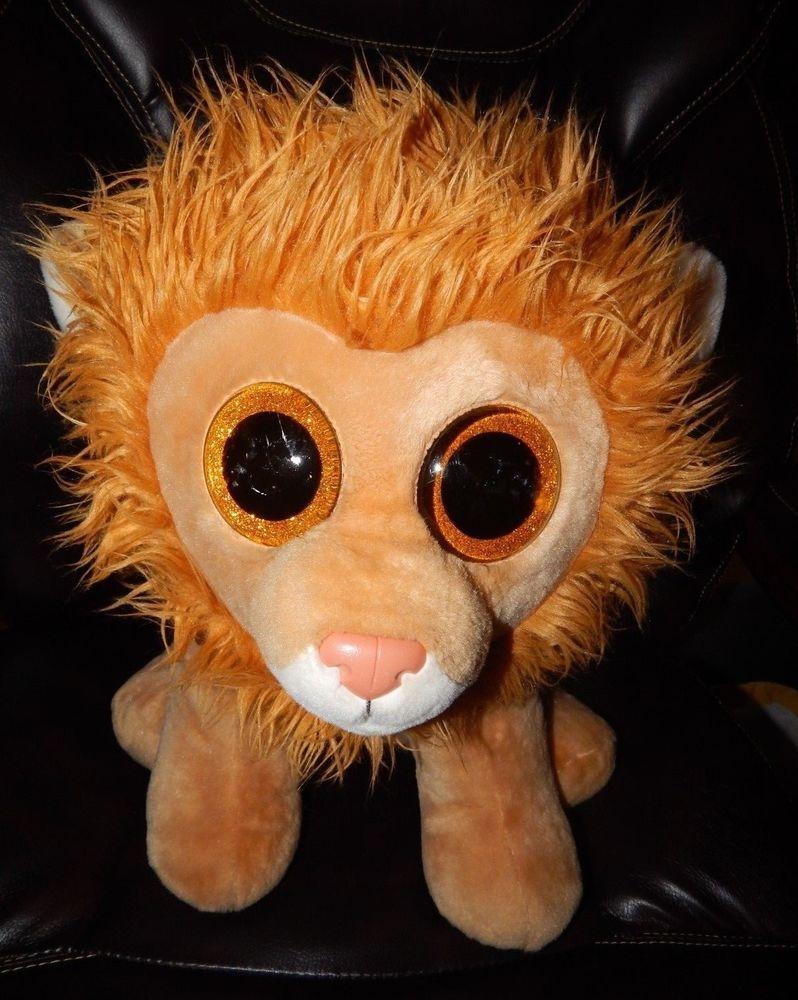 b8926bc61eb TY Beanie Boo Louie Lion RARE RETIRED Jumbo Plush 13