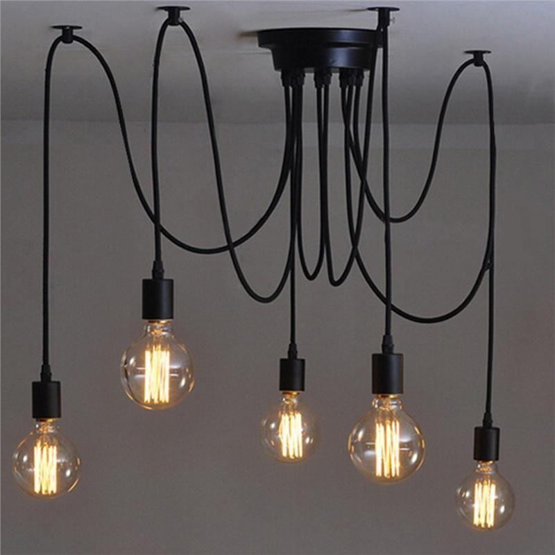 Retro Stil Edison Decke Lampe Licht Kronleuchter Haus Zimmer Dekorative Pendelleuchte Lampen Wohnzimmer Lampen Beleuchtung Decke