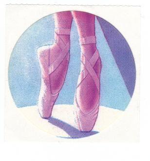 Vintage 1982 Lisa Frank Ballet Slippers