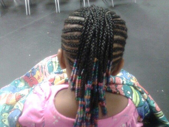 Baby Hair Styles Braids: Kiddie Braided Mohawk With Beads..
