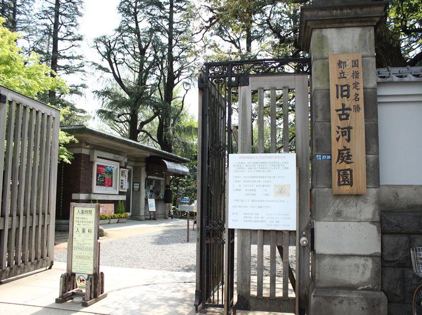 古河庭園への入り口。