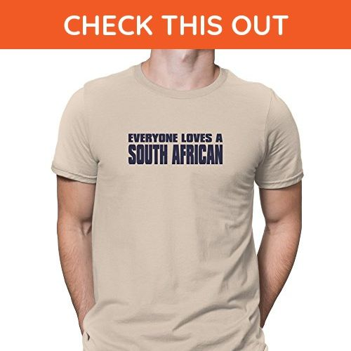 Teeburon EVERYONE LOVES South Africa T-Shirt - Cities countries flags shirts (*Amazon Partner-Link)