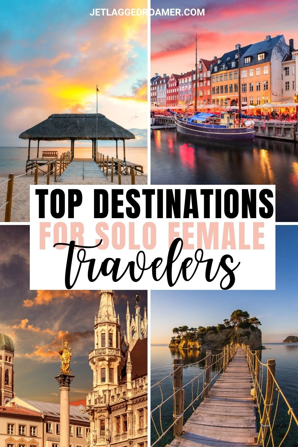 Top solo female travel destinations that are safe for the woman to travel alone. #femaletravel #solotravel