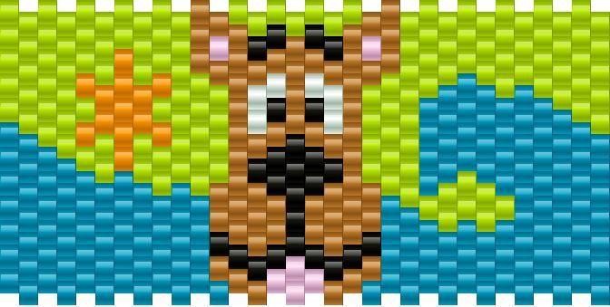 Scooby Doo Machine Pony Bead Patterns | Characters Kandi Patterns for Kandi Cuffs