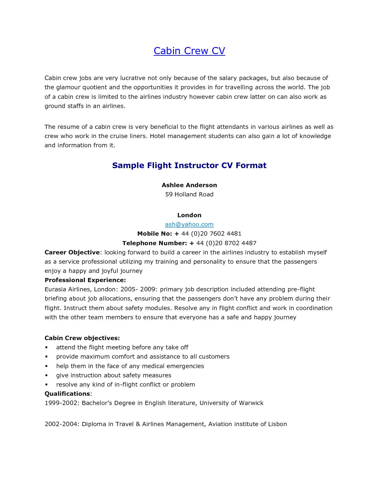 best solutions air canada flight attendant sample resume