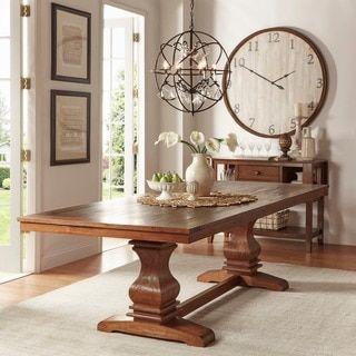 Atelier Burnished Brown Pedestal Extending Dining Tableinspire Captivating Dining Room Furniture Outlet Stores Inspiration Design