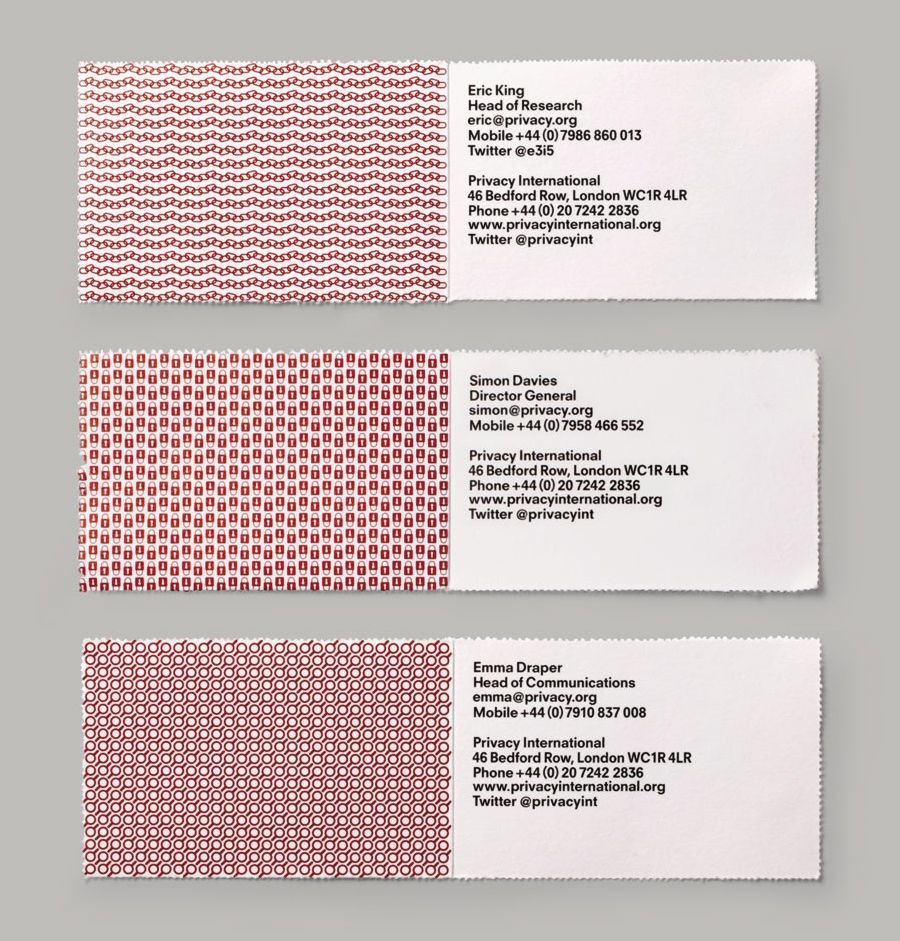 New Brand Identity for Privacy International - BP&O | Detail design ...