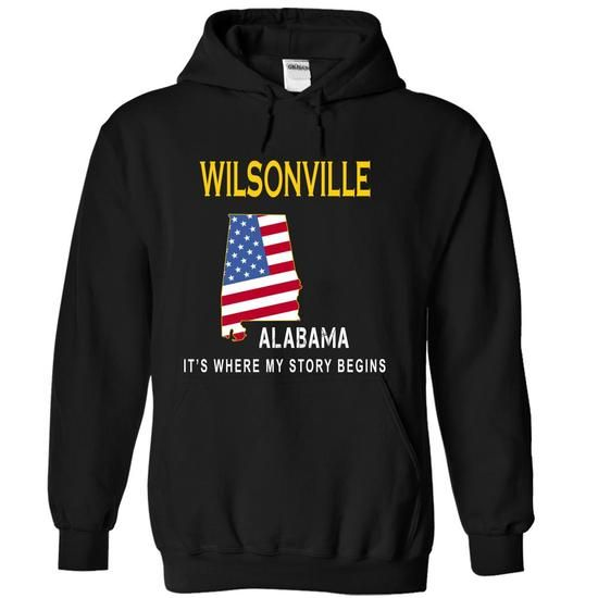 WILSONVILLE - Its Where My Story Begins - #gift for girls #mason jar gift. MORE INFO => https://www.sunfrog.com/States/WILSONVILLE--Its-Where-My-Story-Begins-bldpr-Black-13851810-Hoodie.html?68278