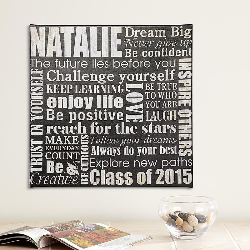 Dream Big Graduation Canvas | Personalized graduation ...