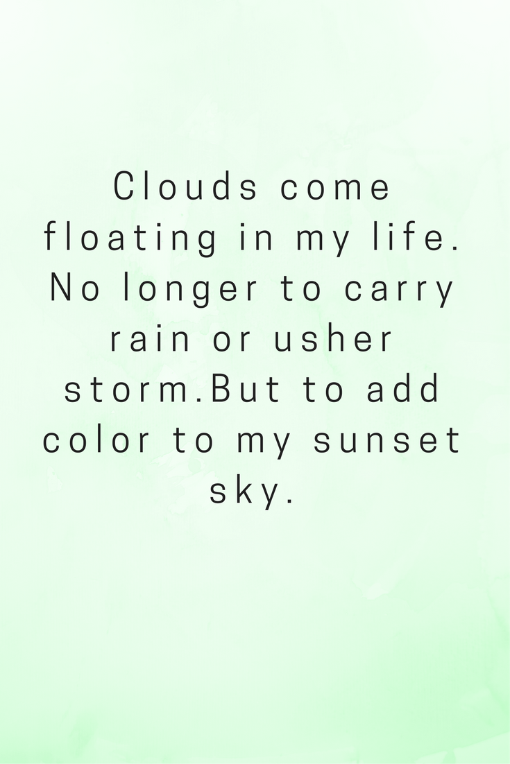 clouds rain quotes, Rabindranath Tagore, Inspiration, motivational ...