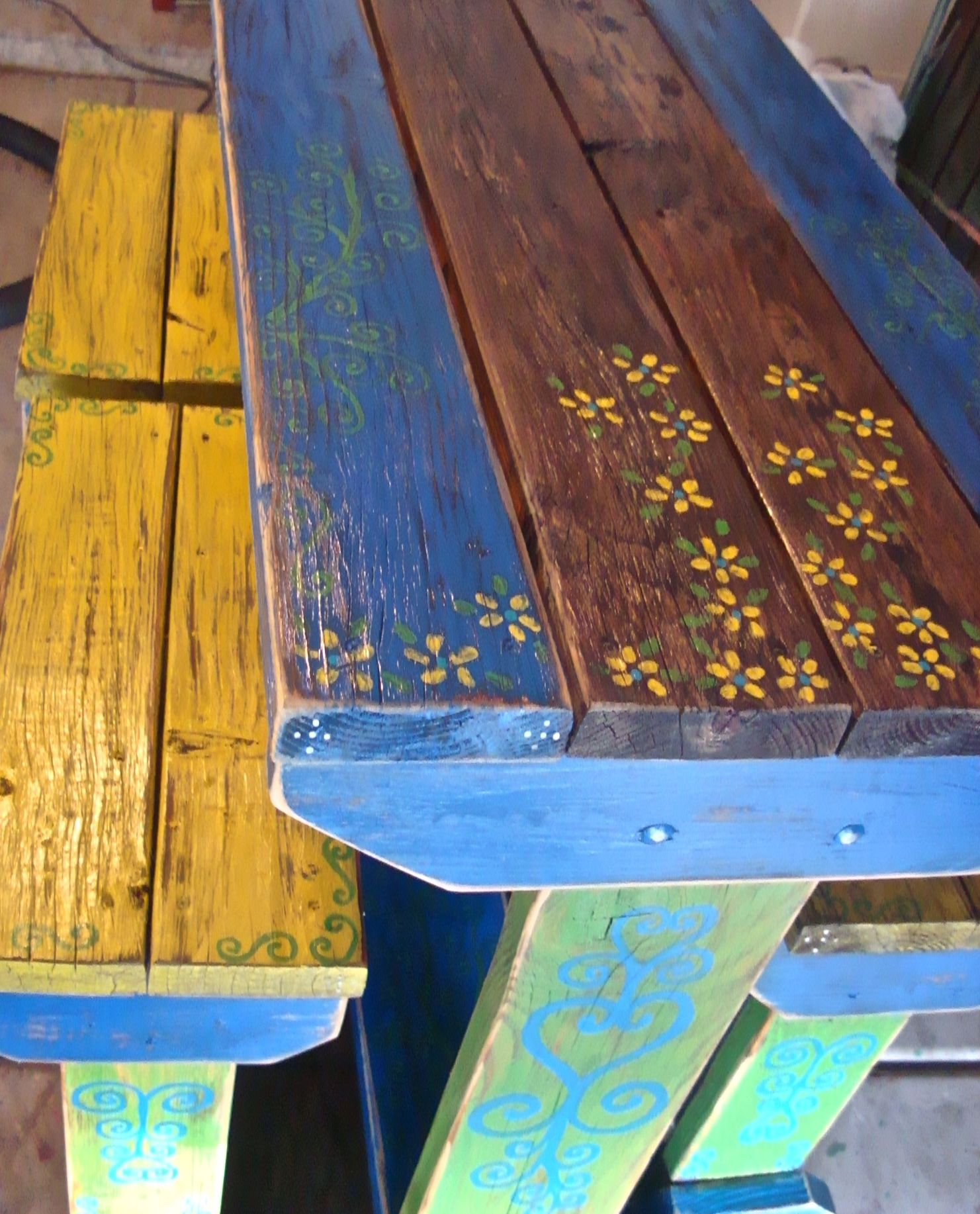 Mexican Outdoor Table Love Idea Painted