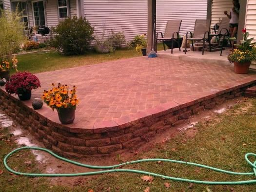 Patio On a Slope | block patio slope question ...