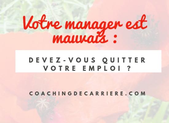 Mauvais Management Avez Vous Un Manager Qui Fait Peur Changer De Vie Professionnelle Souffrance Au Travail Comment Changer De Vie