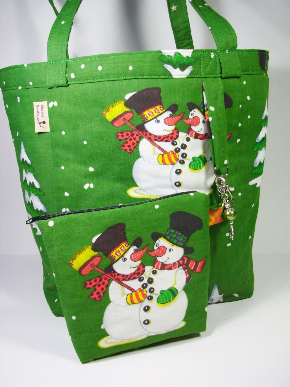 Christmas bag fabric bag xmas pouch reusable christmas