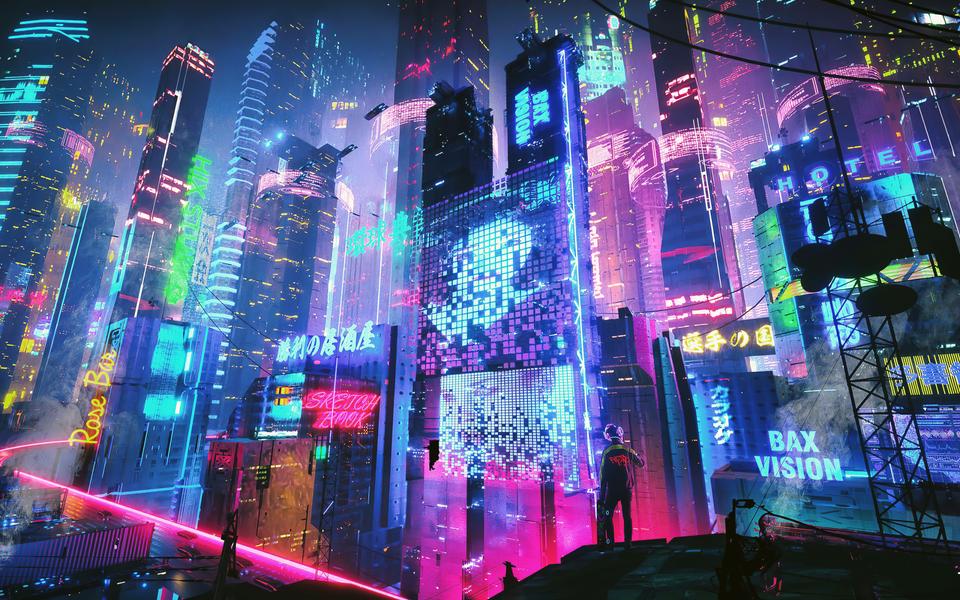 Neon City 2560x1600 Wallpaper In 2020 Aesthetic Desktop Wallpaper Neon Wallpaper Wallpaper Pc