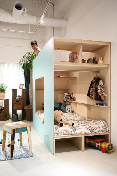 從現有空間隔出新的機能 日本 家中の小屋 隔間對策 ロフトベッド