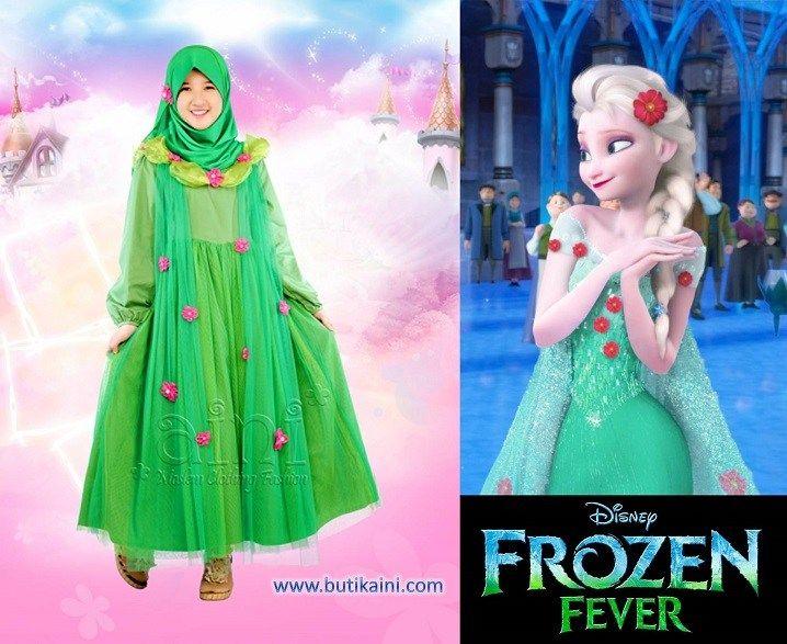 Tutorial Hijab Ala Frozen Baju Muslim Anak Perempuan Muslim