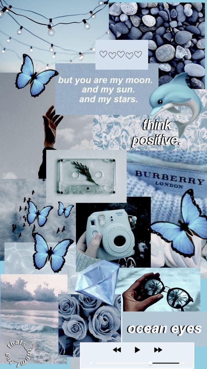 🦋💎 blue aesthetic wallpaper 💎🦋
