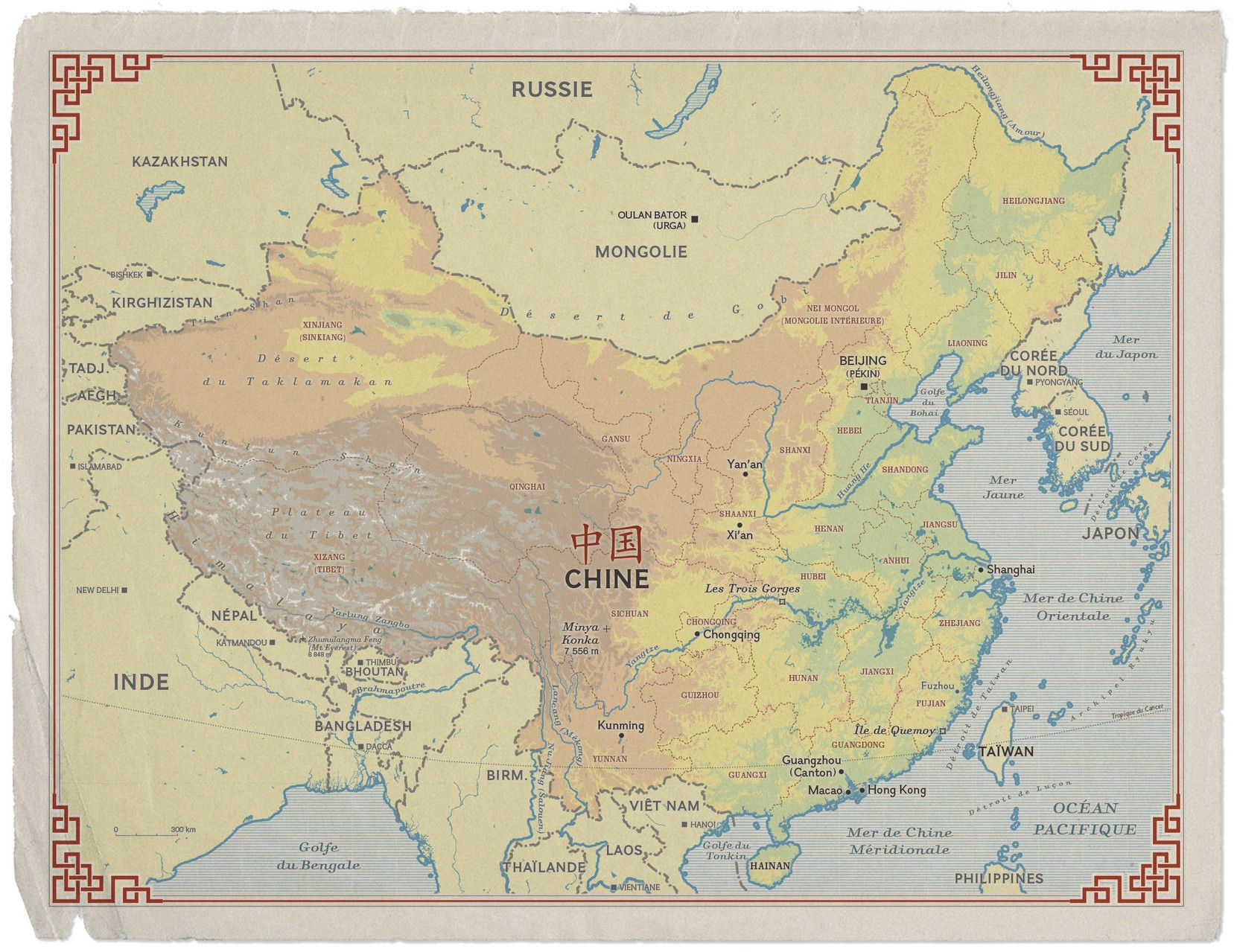 A map of china created by hugues piolet for a special history issue a map of china created by hugues piolet for a special history issue of the gumiabroncs Choice Image