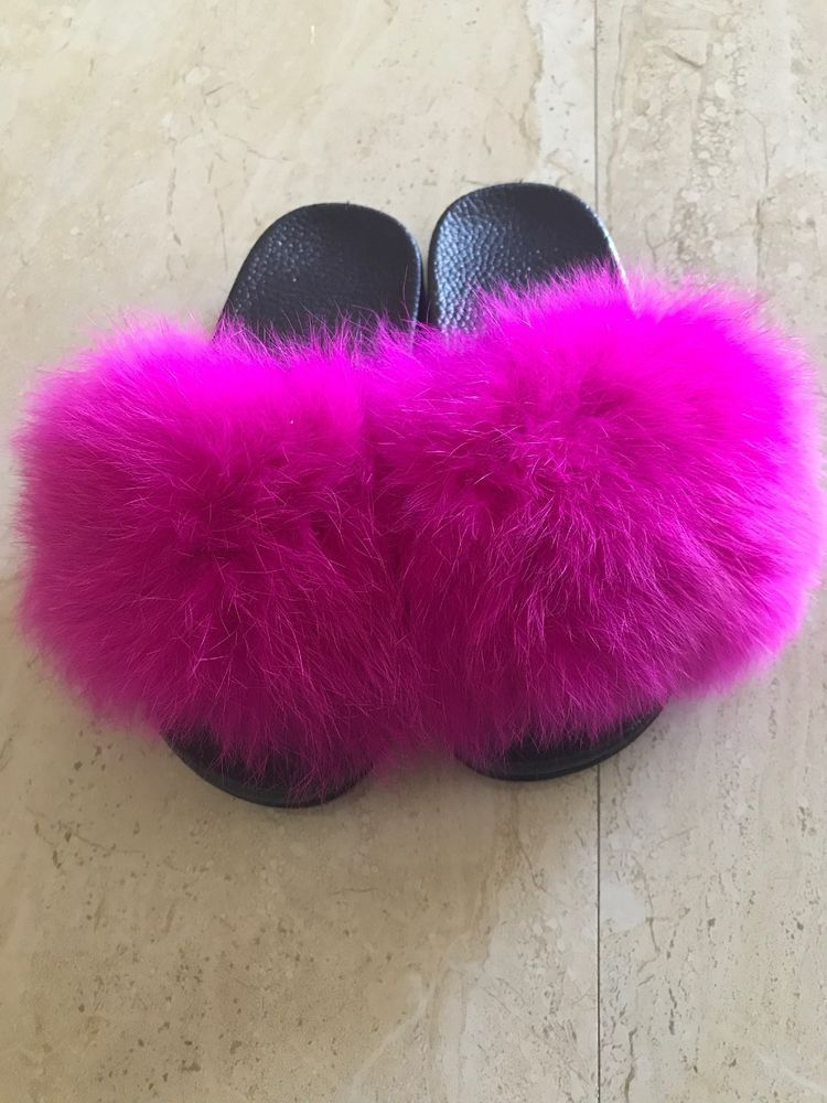 Real Racuun Fur Girl Fancy Slipper Pink