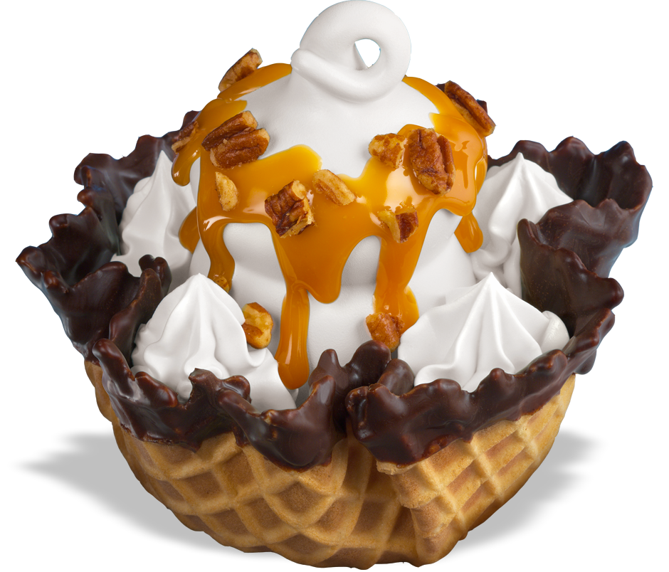 Dairy Queen Waffle Bowl Sundae (not dipped) with caramel ...