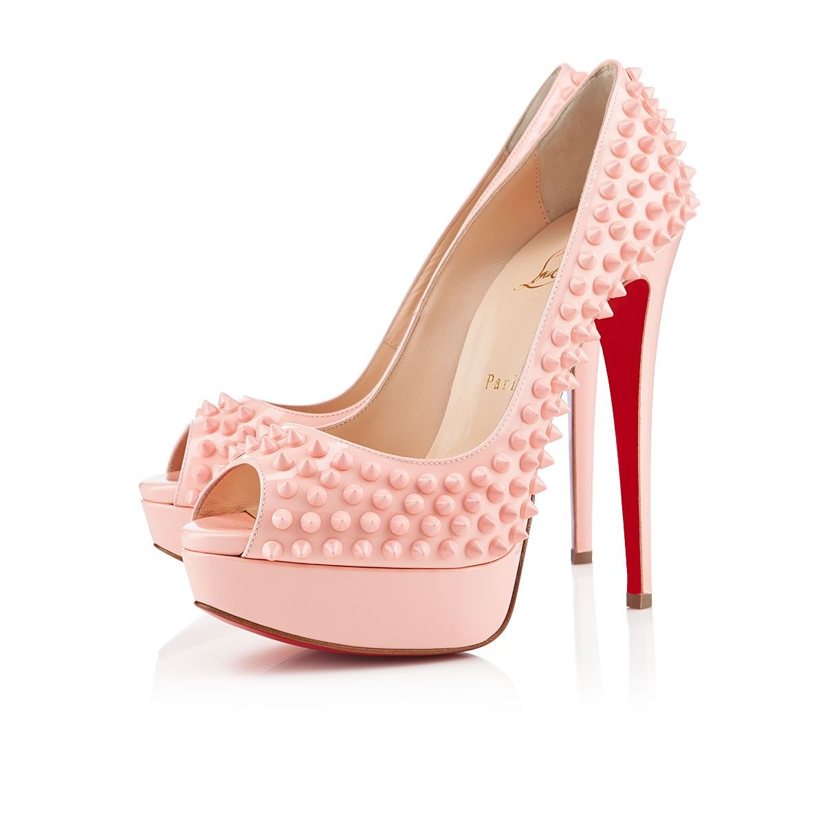 christian louboutin baby pink shoes